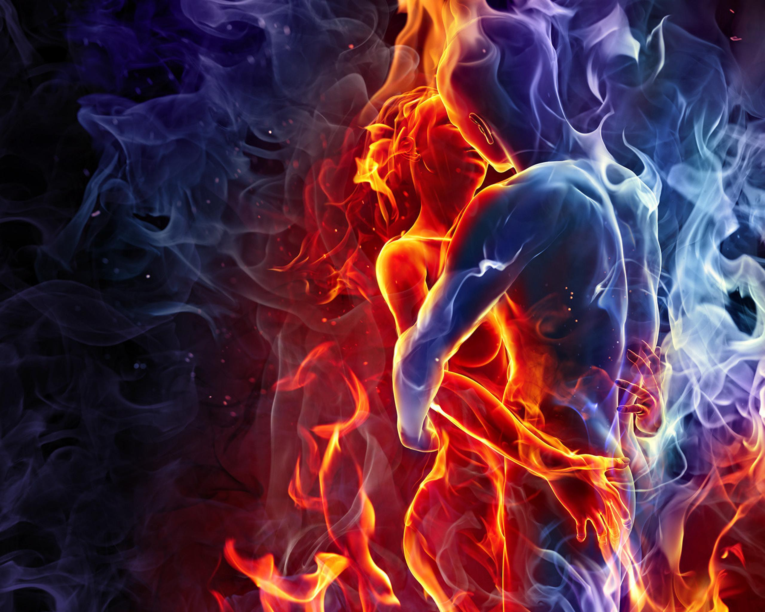 kiss-love-man-woman-silhouette-fire-smoke-opposites-combine-439414